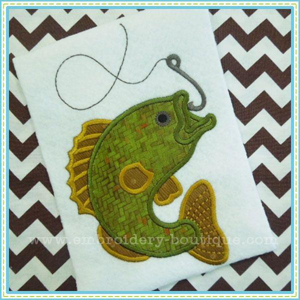 Bass Fish Applique