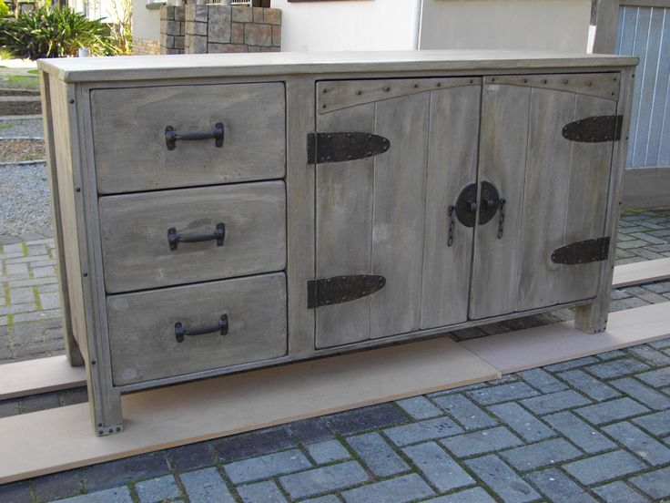 (RS 145) Rustic Server With 3 Draws & 2 Doors  Dimensions L 1600 x W 500 x H 850 mm. Price R5 730 for this size! Can be ordered in the dimensions and colours of your choice! Contact us at Roes & Skroef 0218632371, 0835143382 / Whatsapp Riaan, 0833400954 / Whatsapp Ryk in Paarl, South Africa or e-mail humanr@telkomsa.net for a current exclusive pricelist with photos and measurements.