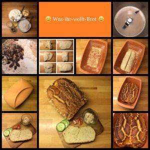 *** Was-ihr-wollt-Brot *** … ein Turbobrot aus dem Römertopf mit viel Auswahl! Ohne Vorheizen in den Ofen und in 1 Stunde fertig!