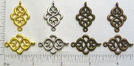 Art Nouvea connector charms beads knotwork elegant bracelet links for spacers