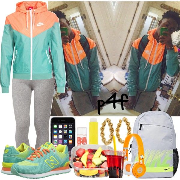 Passion 4Fashion: Nike Balance by shygurl1 on Polyvore featuring NIKE, Forever 21, New Balance Classics, CC SKYE, Maybelline and Beats by Dr. Dre