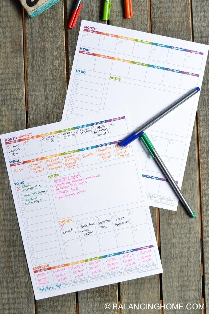 the 25 best weekly planner printable ideas on pinterest