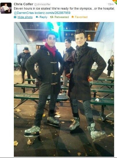 Klaine behind the scenes :)