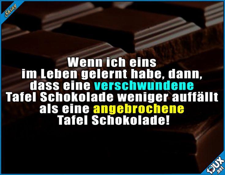Lebensweisheit :3 #Schokolade #lecker #Essen #lustigeSprüche #Humor
