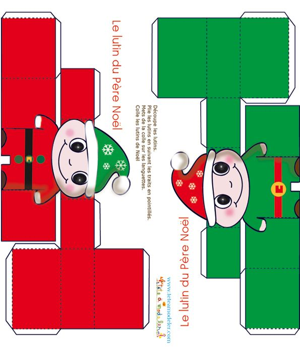 Image detail for paper toy lutin de no l imprimer sur t te modeler navidad pinterest - Tete a modeler noel ...