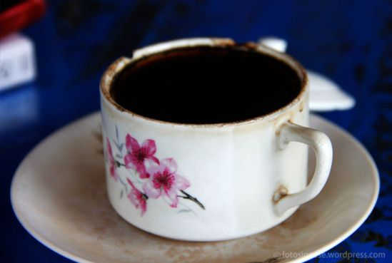 In East Java, there are many traditional coffee shops where they serve delicious coffee.
