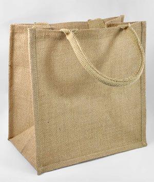 "12"" x 12"" x 7.75"" Jute Shopping Tote Bag - $3.35 | onlinefabricstore.net"