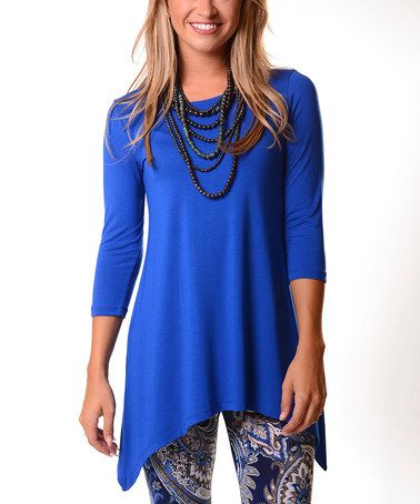 Look what I found on #zulily! Royal Blue Sidetail Tunic #zulilyfinds