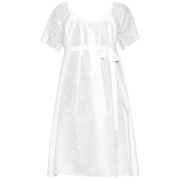 Thierry Colson Plum porcelain-print cotton wrap dress ($213) ❤ liked on Polyvore featuring dresses, thierry colson, white, plum dress, summer wrap dresses, cotton summer dresses, wrap front dress and summer print dresses