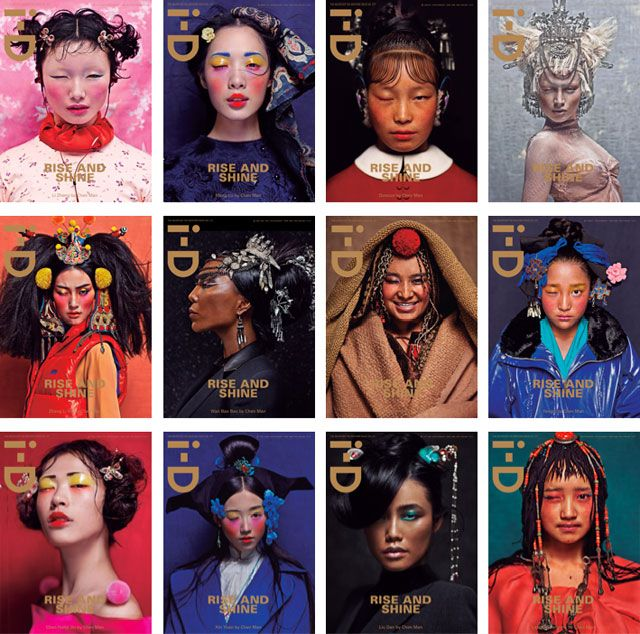 RISE AND SHINE  From this springs, Whatever The Weather Issue, i-D magazine celebrates The Year of the Dragon, or Chinese New Year, with these amazing fashion portraits, photographed by China's avant-garde fashion photographer Chen Man.