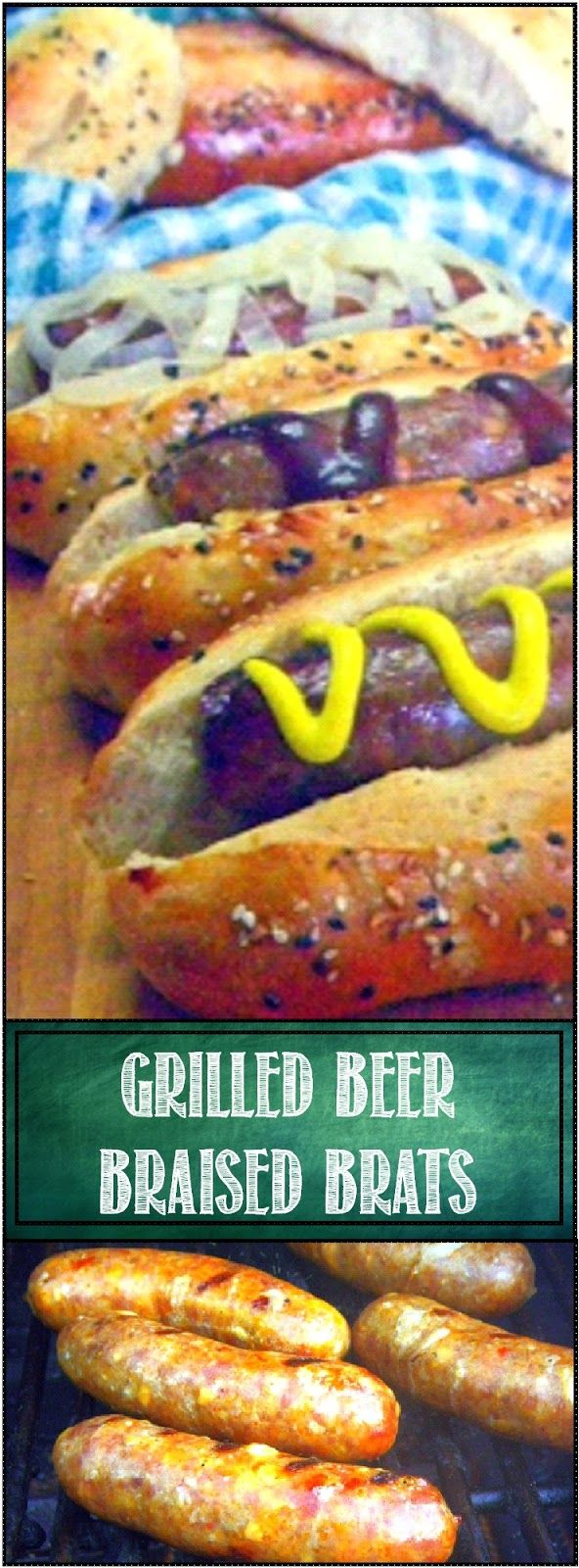 Grilled Beer Braised Brats... This is one of those pins that everyone will need at some point. Grilling brats the right way is more than just slapping 'em on some heat and letting go... Prick em, soak em... Love your meat and your meat will love you back!