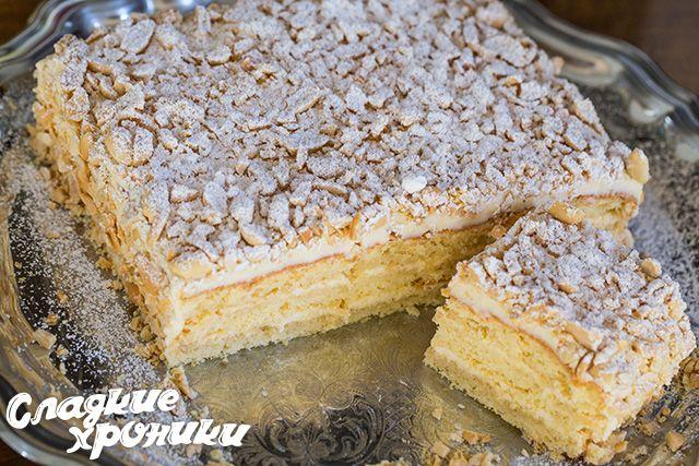 Бисквтитный торт из детства с кремом и арахисом, именуемый «Подарочный»