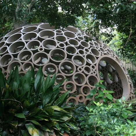 The power of circles.Pack Pavilion, Cardboard, Green Life, Places, Kids, Architecture, Michele Leidi, Stained Glass, Design