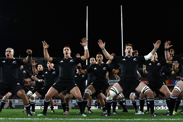 The All Blacks perform the Haka before the International Test Match between the New Zealand All Blacks and Ireland. Photo / Getty images.