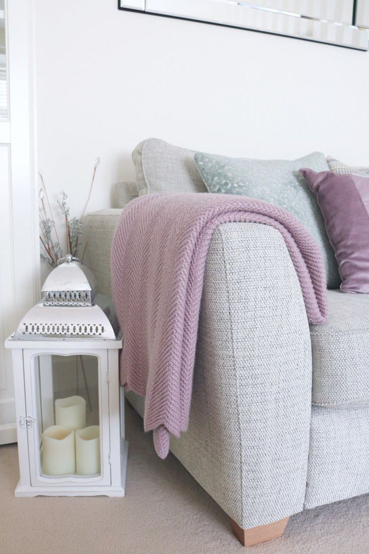 Duck egg and mauve living room