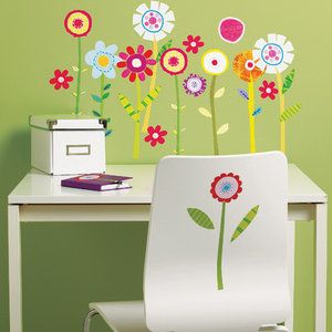 Wallies Green Garden Wall Mural - need these to go in the grass under my tree!