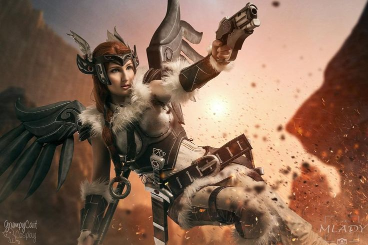 Sigrun Mercy cosplay by GrumpyCait
