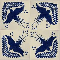 Talavera Tiles From Mexico | ceramic talavera tile. Hand painted clasic colonial & folk art tile ...