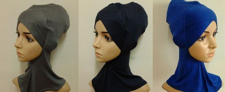 Crossover Ninja Underscarf cotton neck cover sport hijab muslim bonnet inner cap #sportHijab