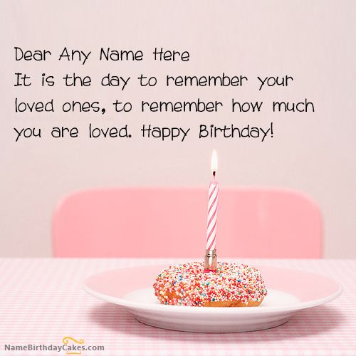 Write name on Best Birthday Wish - Happy Birthday Wishes