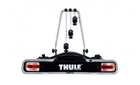 El #portabicicletas #Thule Euroride 943 de 3 bicicletas es un portabicicletas compacto, reclinable y fácil de montar.  Incluye correas con hebillas para la fijación de las ruedas. Brazos con superficie de goma para la protección de los cuadros de las bicicletas. Bloqueo antirrobo para el portabicicletas. Toma eléctrica de 7 polos (adaptable a 13 polos con el  adaptador 9907). En #Bikeos por 307€.