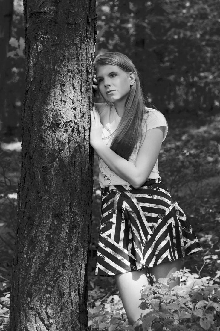 Sesja zdjęciowa w lesie Las, forest, sesja, photoshoot, natural, black&white