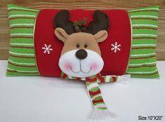 de la felpa de navidad renos patrón de cojines-Adornos navideños ...