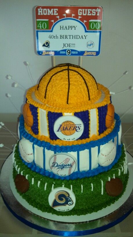 Lakers Dodgers Rams Cake