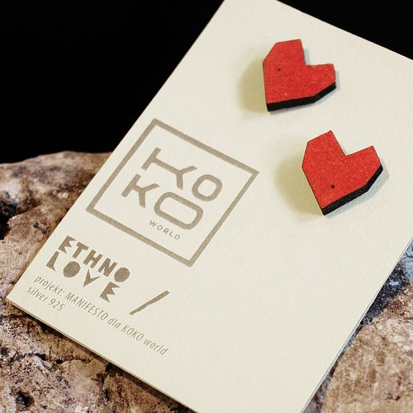 wooden earrings Ethno LOVE from KOKOworld by DaWanda.com
