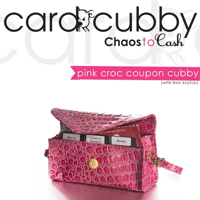 Featured Product: Pink Croc Coupon Cubby with FREE Keyfob! http://cardcubby.com/collections/more/products/pink-croc-coupon-cubby #cardcubby #card #cubby #creditcard #coupon #saving #money #wallet #purse #bag #giftcard #gift #shopping #ideas #tips