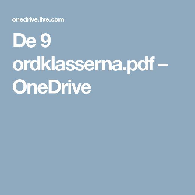 De 9 ordklasserna.pdf – OneDrive