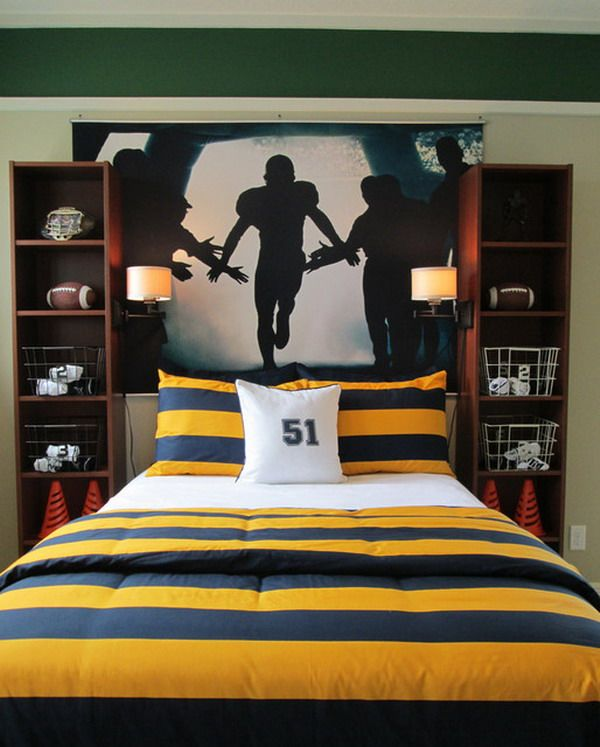 Football Wall Mural 31 best boys room images on pinterest | football rooms, big boy