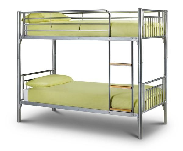 A sturdy metal Double & Triple sleeper that features a single 90cm bed…
