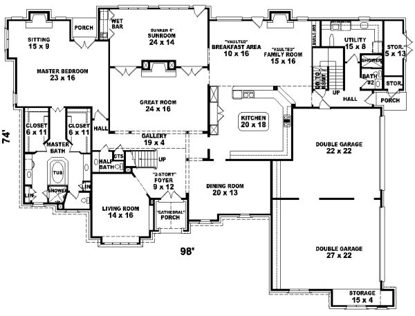 b5c8abd2a6eae23a9b820b1a5b9fb1d4--monster-house-plan-plan Small Home Plans And Zero Lot on blank lot plans, zero house plans, pig lot plans,