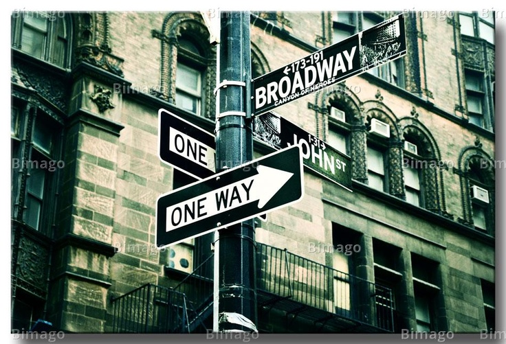 One way Broadway ---->