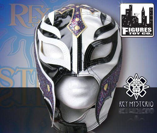 WWE Series 5 Rey Mysterio Kid Size Replica Black & White Mask by WWE. $49.00. WWE SUPERSTAR REY MYSTERIO KIDS SIZE PRO-GRADE MASK   WWE Rey Mysterio KIDS Size Replica Mask   Officially licensed by WWE   Made directly from Rey Mysterio's own mask   Fits most kids ages 8 & up   Simulated Leather. Save 30% Off!