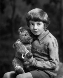 Christopher Robin Milne (21 August 1920 – 20 April 1996) was the son of author A. A. Milne. As a child, he was the basis of the character Christopher Robin in his father's Winnie-the-Pooh stories and in two books of poems.