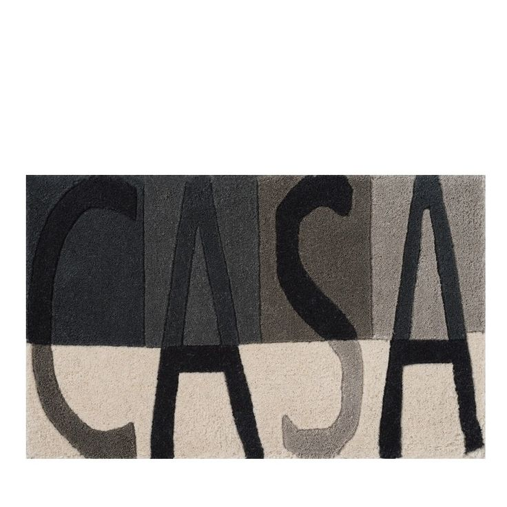 The Casa design doormat in grey by Linie Design is handmade in India by skilled craftsmen in 100% wool. The lovely little doormat is perfect for use inside front and back doors to your home. The rug has a block design using varying shades of grey for both background and letters creating a great contemporary look.