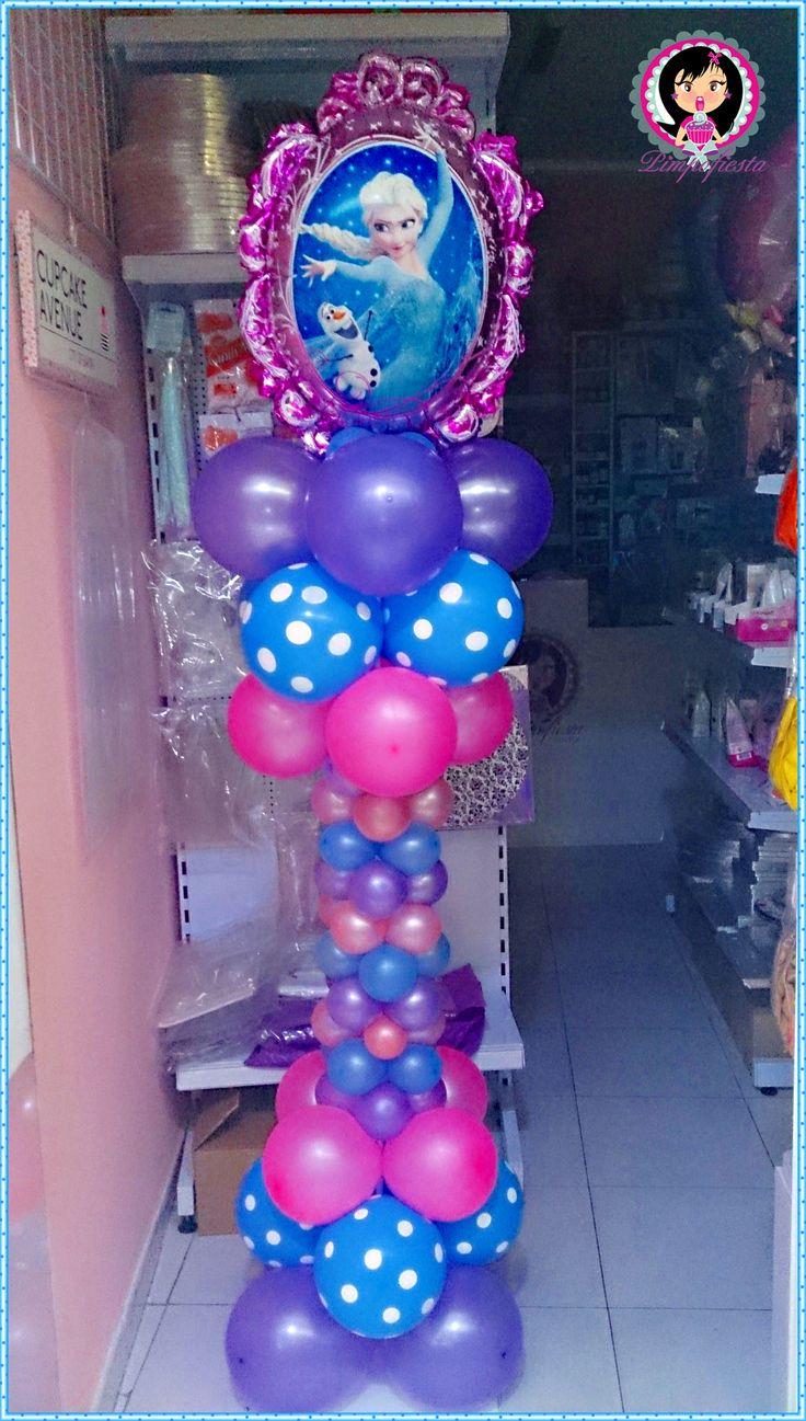 Columna de globos frozen frozen birthday jannay 9 for Balloon decoration machine