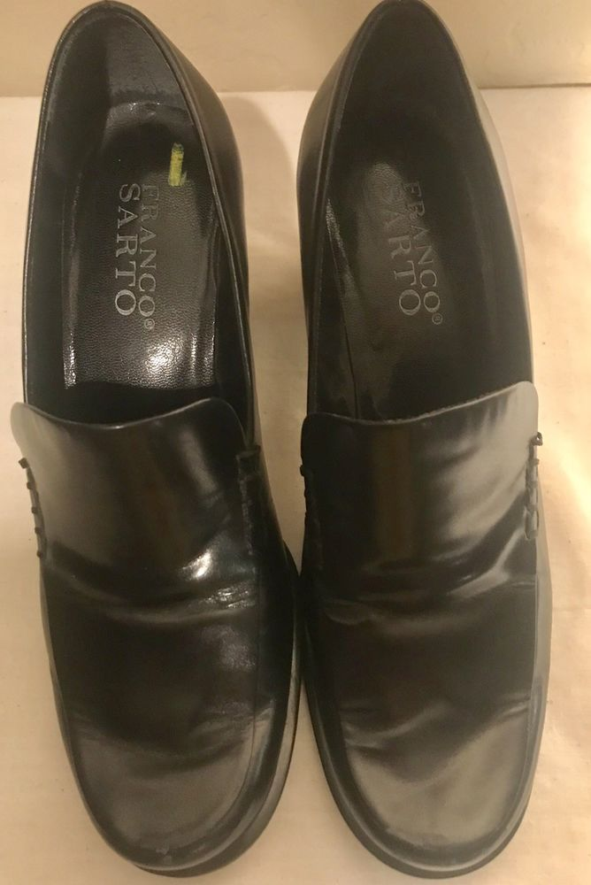 e19c9ab702a Women s Franco Sarto Bocca Black Leather Slip-on Loafer Shoes Size 5.5 M   fashion  clothing  shoes  accessories  womensshoes  flats (ebay link)
