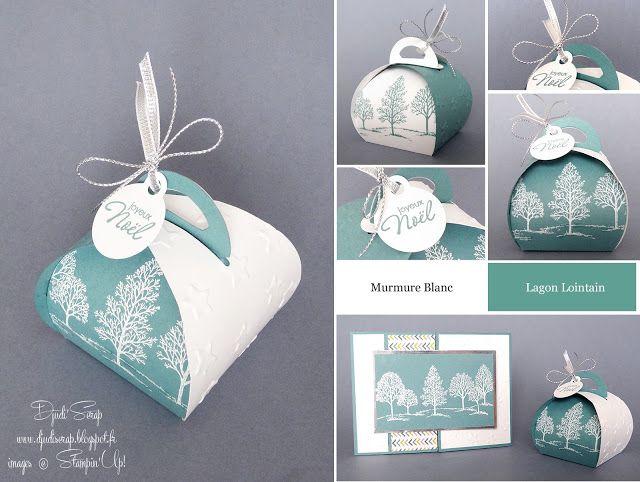 "Stampin'Up! - Ballotin, Boîte à chocolats ""Set Lovely as a Tree, Boîte à souvenirs arrondie"""
