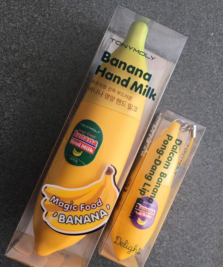 Tony Moly Banana Hand Milk and Banana Lip Balm