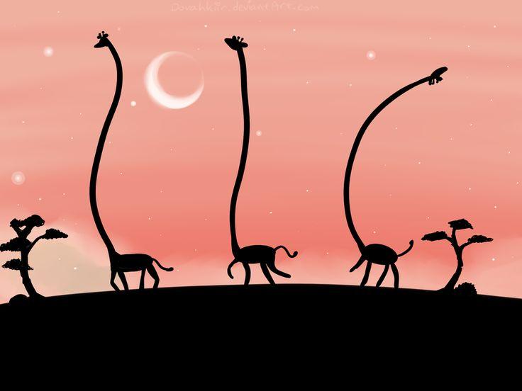 Giraffes by skrillbug on DeviantArt