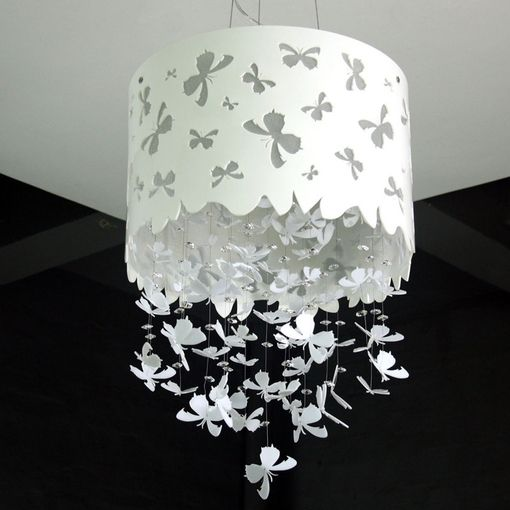 DIY butterfly hanging chandelier