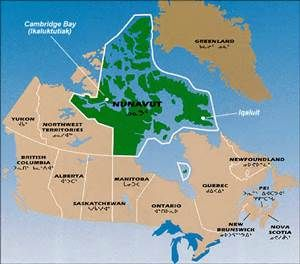 northern nunavut map