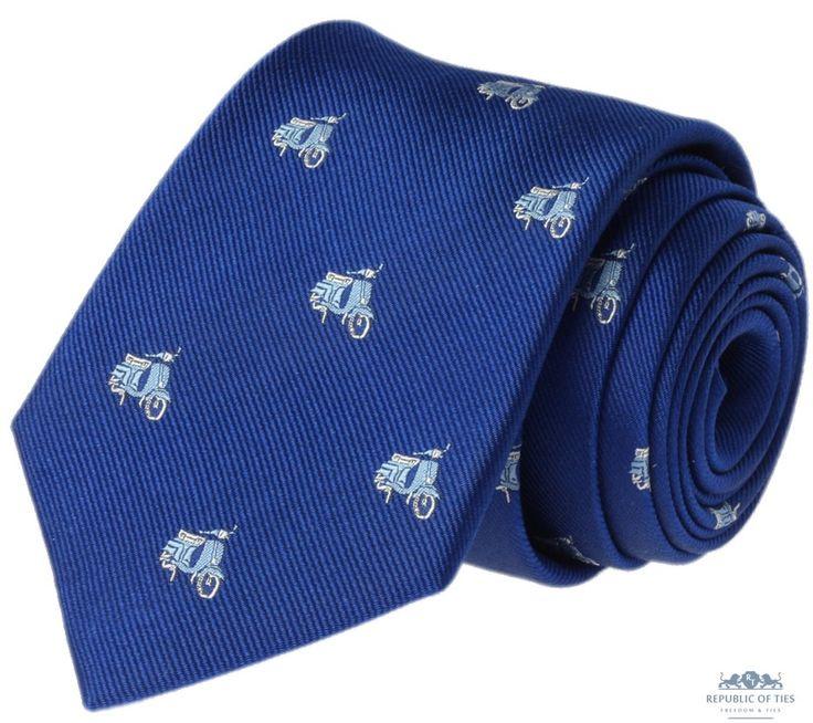 Krawat jedwabny  - skutery