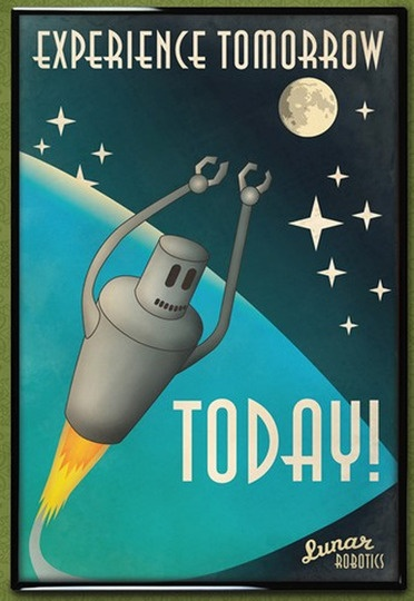 Space themed travel posters! So fun.