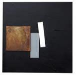 David de Almeida - Iron / Acrylic paint on plywood - 100 x 100 cm.