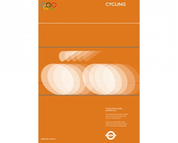Alan Clarke's beautiful designs for Olympic tube posters.