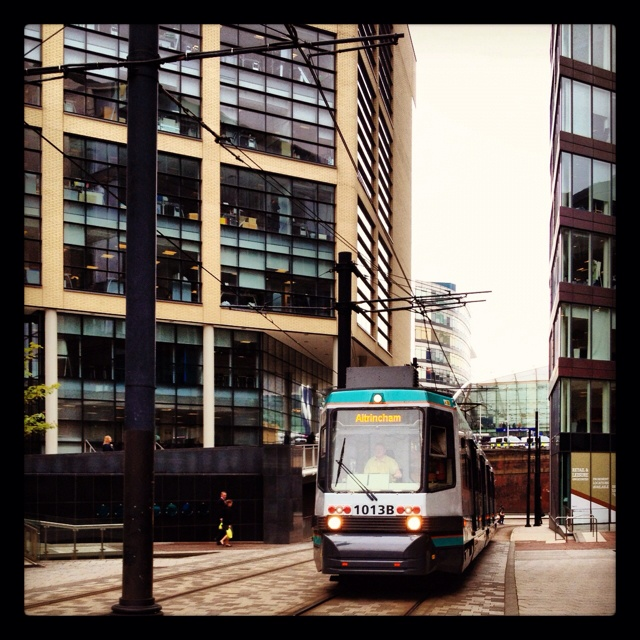Manchester ~ the tram. Manchester has a lot of beauty that's often missed by those who see it everyday. My home city, though feeling like a tourist.